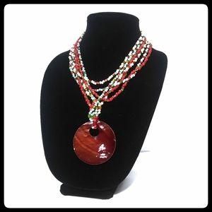 Beautiful Artisan multi strand colorful necklace